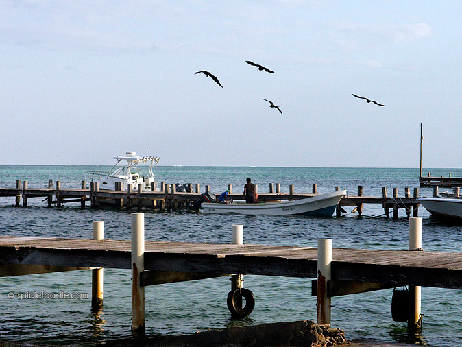 Pier on San Pedro  | #AmbegrisCaye #Belize #travel