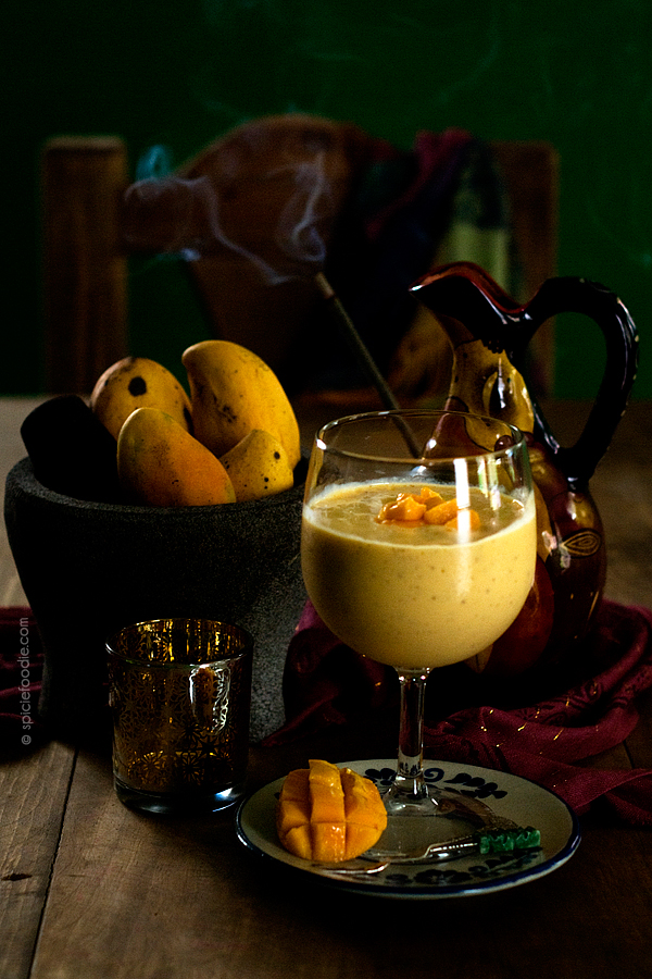 Mango and Chia Seed Lassi by | #smoothie #lassidrink #chiaseeds #Indiandrinks