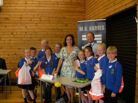 With South Parade pupils at Riveting Reads 2013
