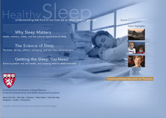 Go to Harvard Medical School's Healthy Sleep website