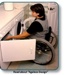 Wheelchair Lady doing Laundry