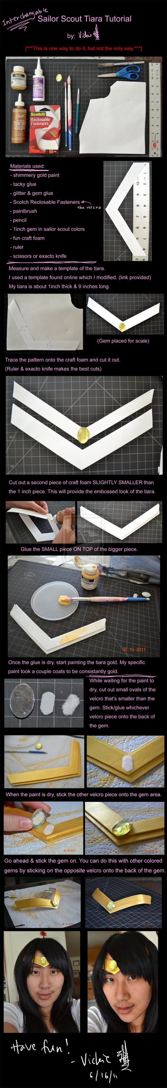 Sailor Scout Tiara tutorial