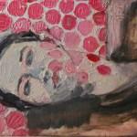 Ulrike Pisch, Red Dots, 2012,Öl auf Leinwand, 24x30cm