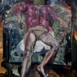 Der Sitzende 2016  Öl auf Leinwand 160x118 cm