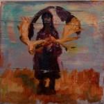 Die Sammlerin 2012 Öl auf Leinwand 40 x 40 cm