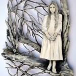 Schwesterchen Cut out Acryl auf Holz 73x60cm