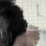 meerschweinchen geometrie tür 2005 Öl auf Leinwand 170x190cm