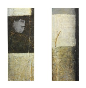 o.T. 1997 220 x 80 cm Temp Öl auf Leinwand