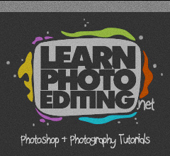 learn photo editing logo