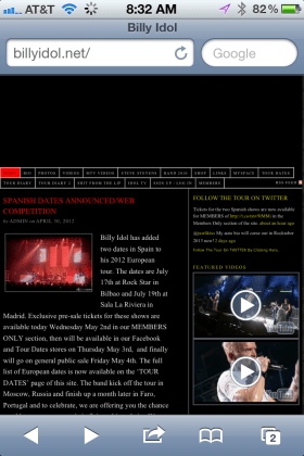 Official Billy Idol Website BillyIdol.net