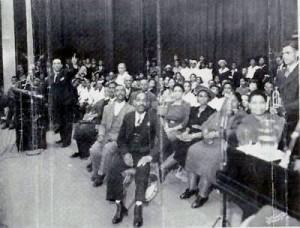 Arizona Dranes at the piano, Atlanta, 1943