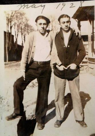 Charles Attal's grandfather Wolfred (r) and his brother Gus co-owned A&A Drugs on Sixth Street.