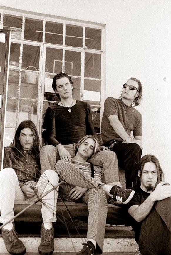 Pariah l-r Shandom Sahm, Kyle Ellison, Sims Ellison, Dave Derrick, Jared Tuten. Photo by Todd Wolfson.