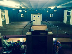 Church in Shiner, TX where BWJ performed.