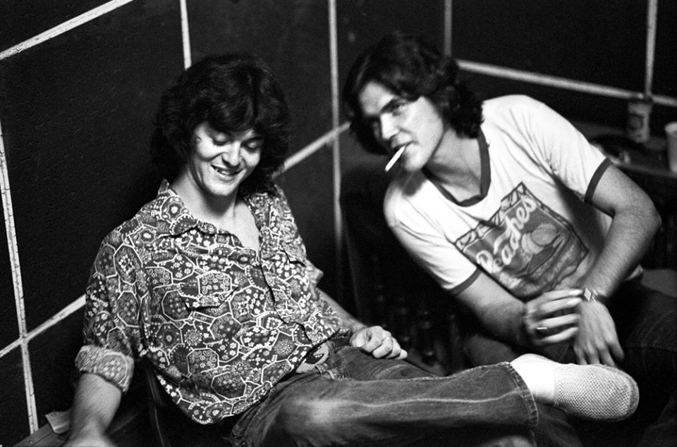 Rodney Crowell and Guy Clark 1977. Austin Opera House photo by Scott Newton.