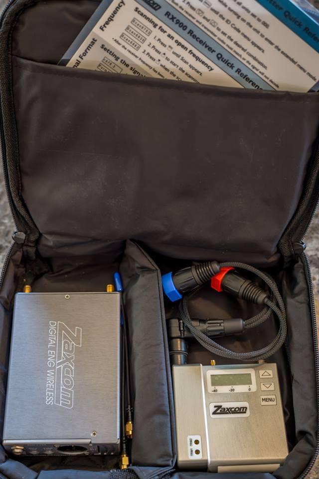 Zaxcom wireless camera hop.