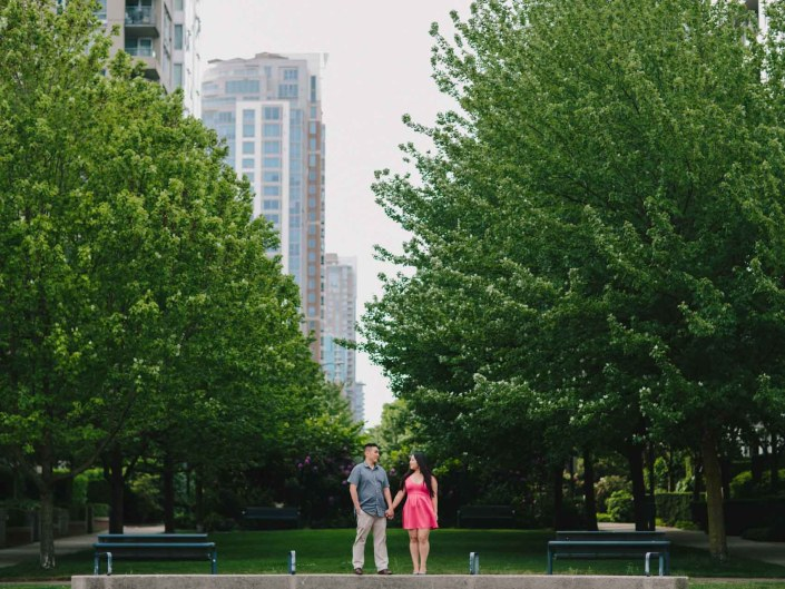 david and mary's engagement photos in yaletown