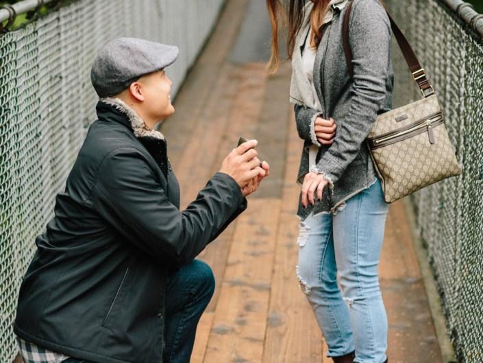 capilano suspension bridge surprise engagement proposal