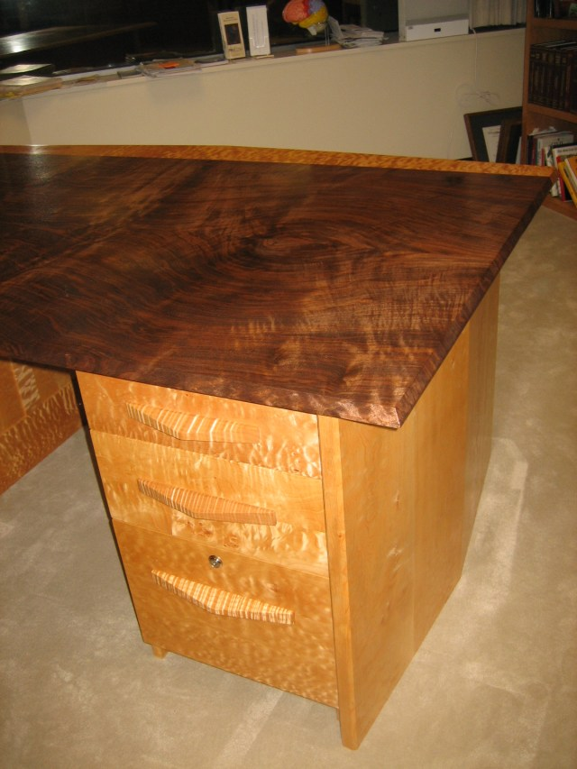 Drawer detail with figured top.