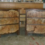 Burl front nightstands