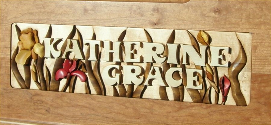 Katherine Grace in a floral inlay