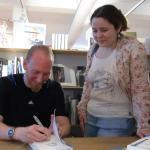 Boek signeren voor Vera