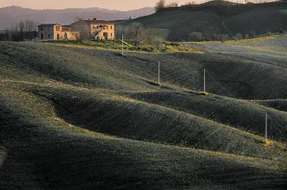 Tramonto in Valdorcia