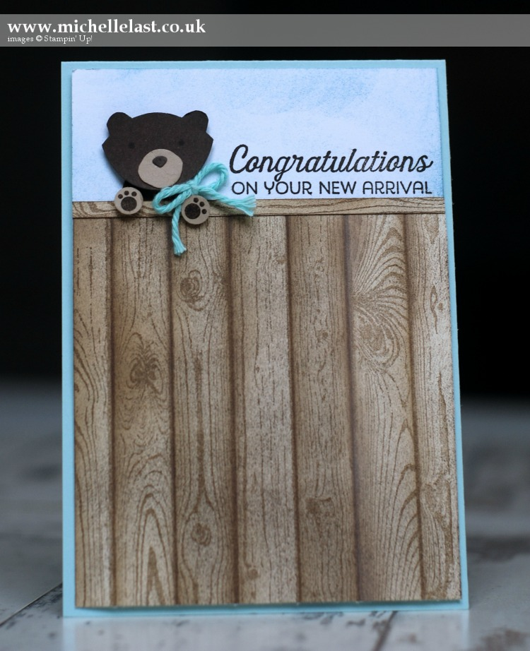 Baby Bear using Foxy Friends from Stampin Up