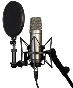 A pro-quality condenser microphone for filming YouTube videos