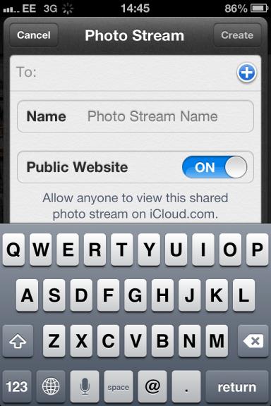 A Screenshot of Apple's Photo Stream Feature