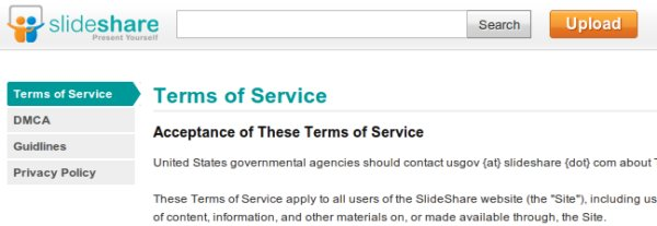 slideshare terms of service Slides roubados do seu Slideshare?