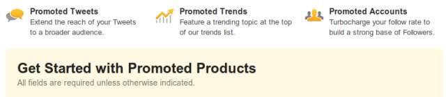 promoted ad twitter exmeplo Anúncios no Twitter devem chegar para todos de forma definitiva no começo de 2012