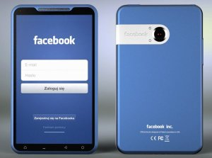 Um dos vrios conceitos de telefone do Facebook que surgiu.