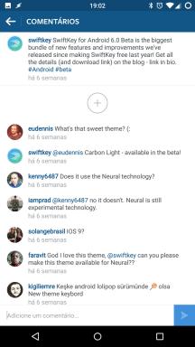 Instagram do Swiftkey