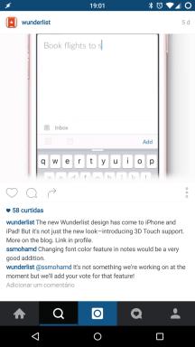 Instagram do Wunderlist