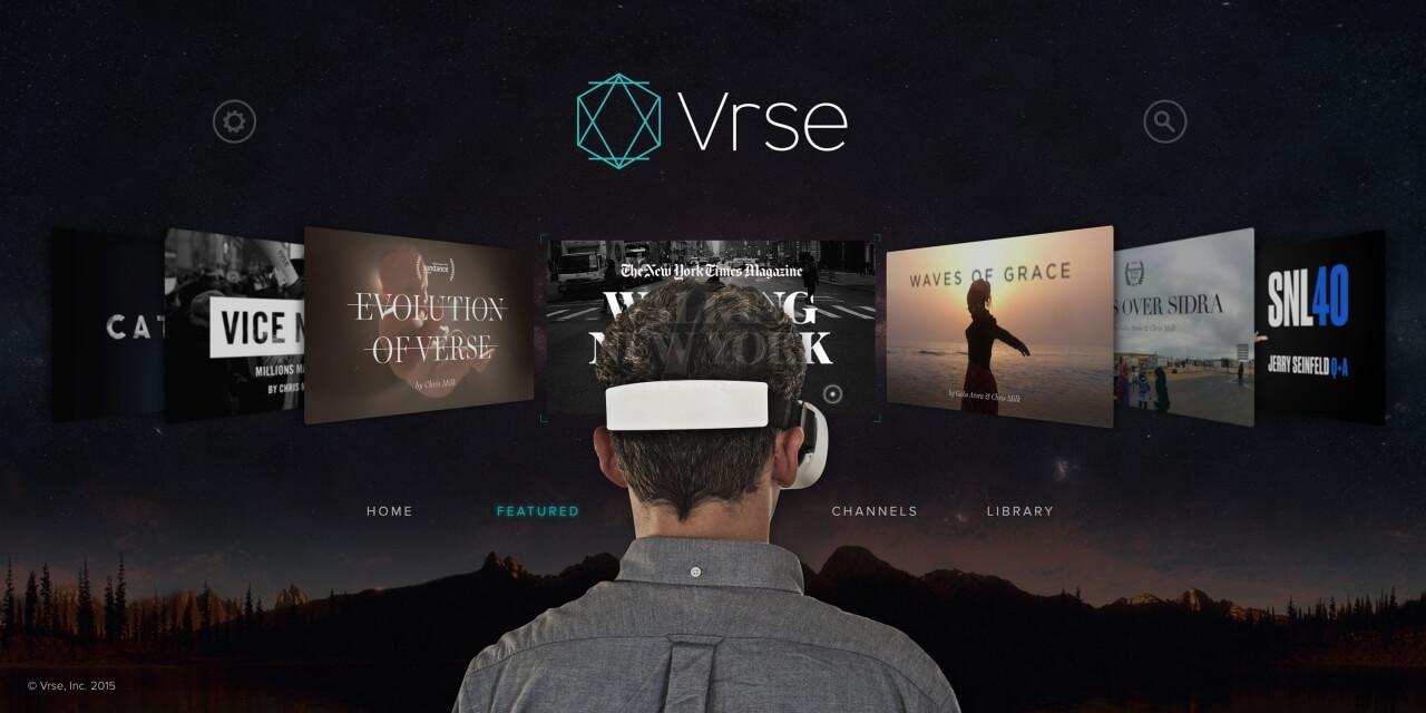 VRSE, vídeo online em 360 graus.