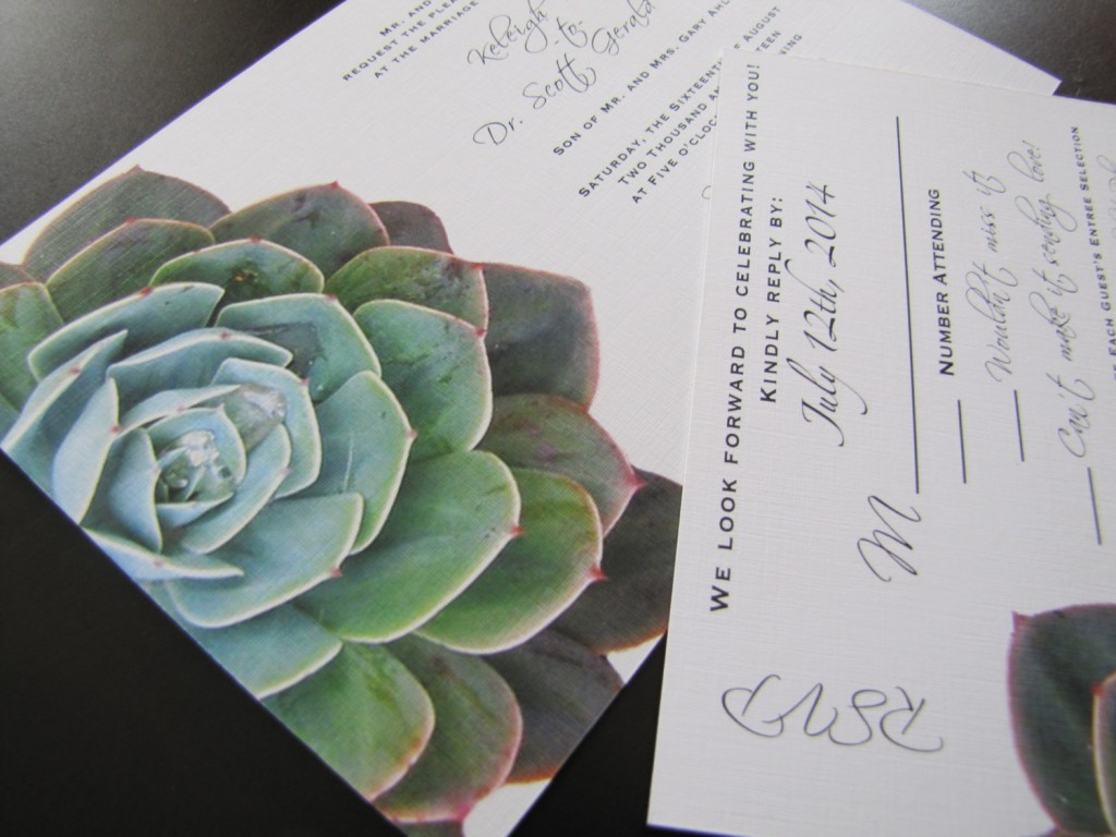 22 gorgeous succulent wedding invitations succulent wedding invitations Custom Succulent Wedding Invitation by CMYKnot midsouthbride com