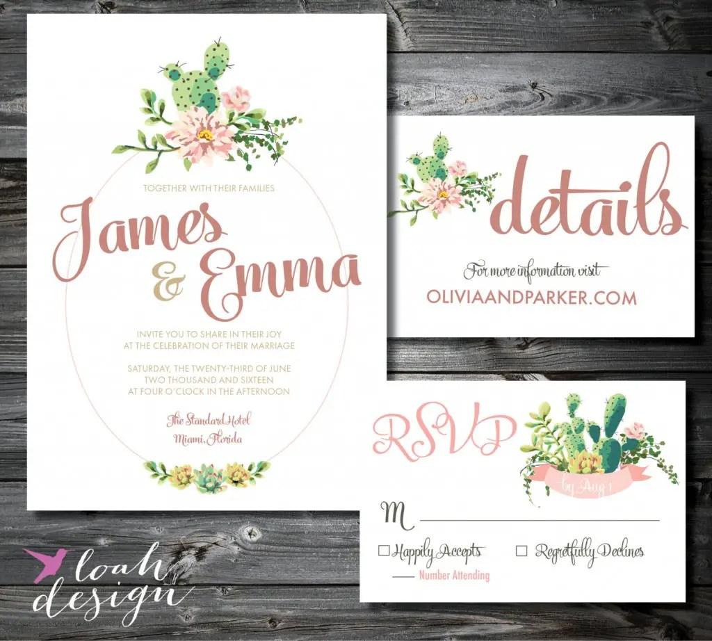 custom wedding invitations latest project succulent wedding invitations Green succulent wedding invitation and custom matching envelope