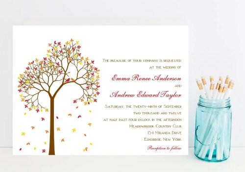 Medium Of Fall Wedding Invitations