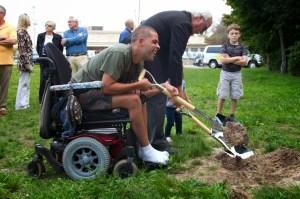 "Shamir, a neighbor, our official ""Sidewalk Supervisor"""