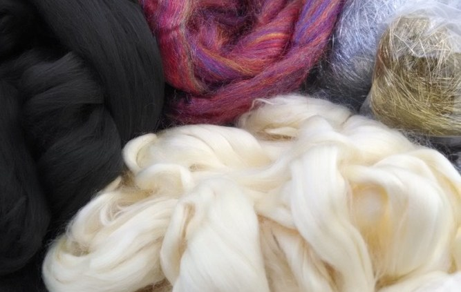 Assortment of man made fibers