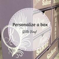 Gör en låda mer personlig med vinyl