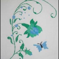 Handmålade tallriksunderlägg