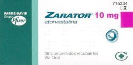 Zarator medicamento Pfizer diabetes colesterol efectos secundarios