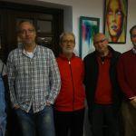 Jacobo Camarero, yo, José Holgado, José Luis del Río y Francisco Almodóvar.
