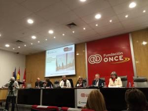 Conferencia celebrada en la ONCE en al que estuvieron juntas las dos asociaciones de afectadas por Agreal.