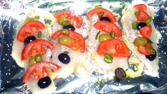 Filetes de merluza en papillote