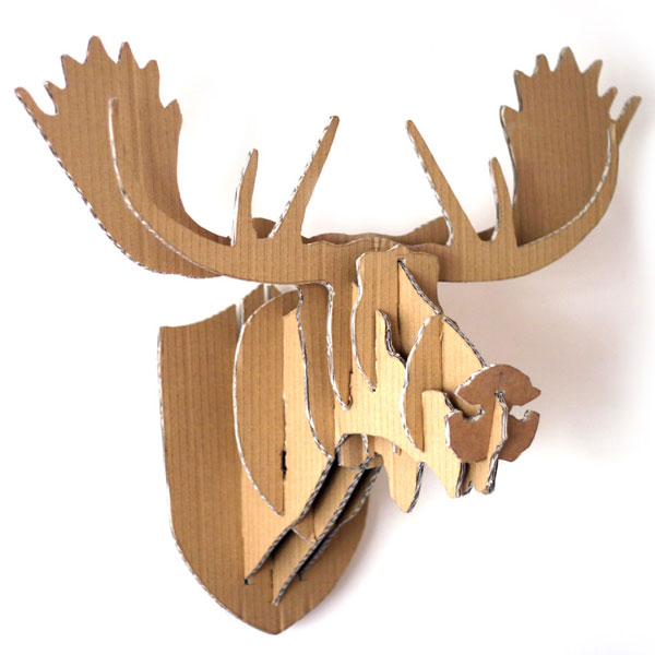 Cardboard Box Moose & Deer Heads