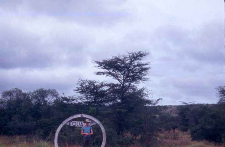 """""""I see you now!"""" Me at the Equator, Kasese, Uganda."""