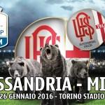 Alessandria-Milan Coppa Italia 2015/2016: presentazione